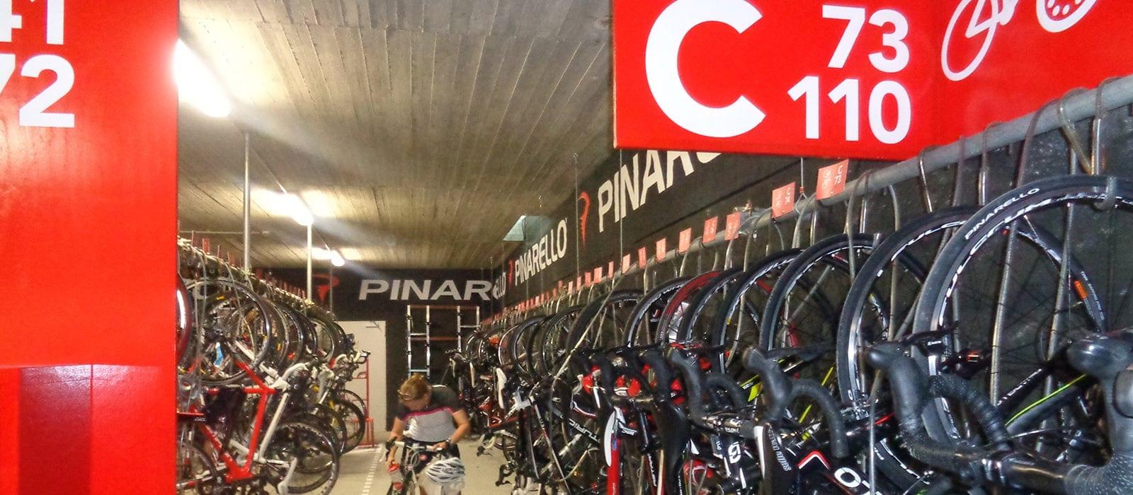 The bike room at Lungomare Bike Hotel