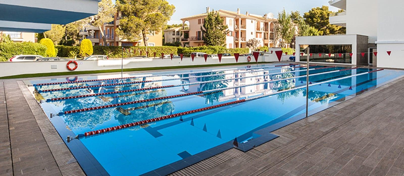 The lap pool at Sporthotel Villaconcha