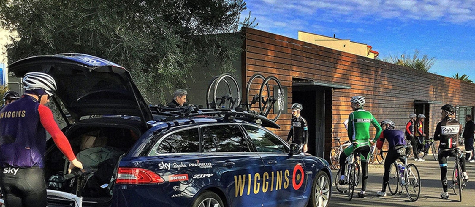 Team Wiggins riding out at Cambrils Sports Village