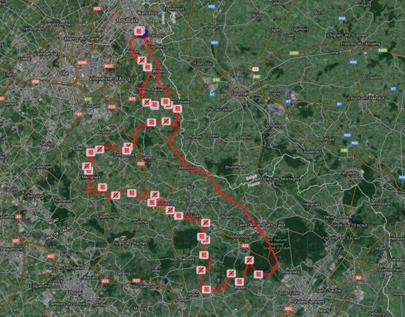Paris Roubaix Medium Route