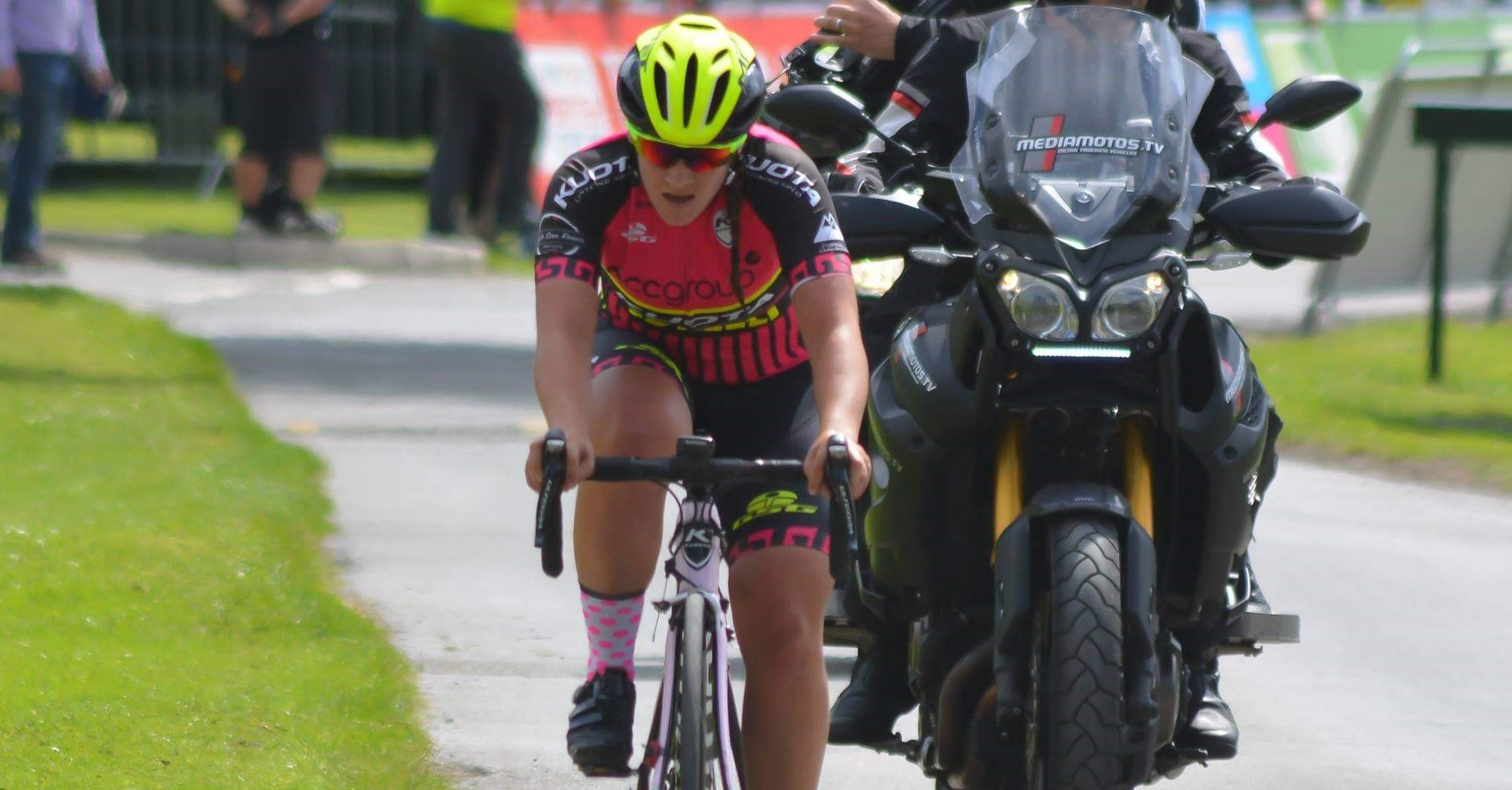 Steph Mottram riding in the UCI