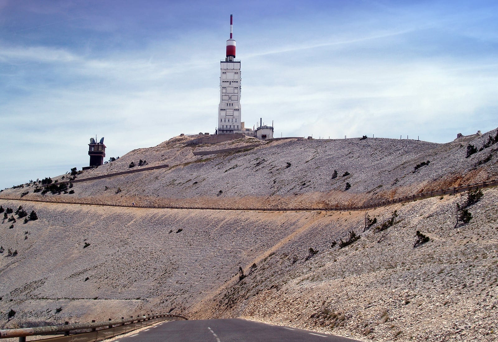 Summit area of Mont Ventoux in the Provence Region of France.
